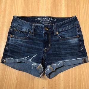American Eagle denim midi jean cutoff shorts